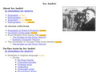 Slika naslovnice sjedišta: Ivo Andrić (http://www.borut.com/library/a_andrii.htm)