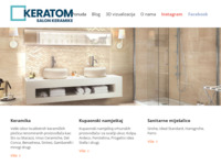 Frontpage screenshot for site: Keratom - Makarska (http://www.keratom.hr/)