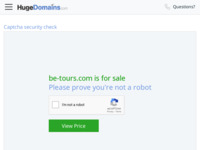 Frontpage screenshot for site: BE Tours (http://www.be-tours.com)