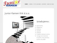 Frontpage screenshot for site: G.P.O. Junior Kamen d.o.o. (http://www.junior-kamen-krk.hr/)