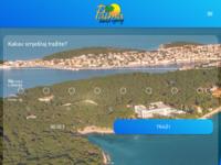 Frontpage screenshot for site: Lošinj - Palma (http://www.losinj.com)