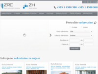 Frontpage screenshot for site: Zagreb Real estate & Consulting (http://www.zrc.hr)