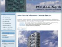 Frontpage screenshot for site: Padi d.o.o. Zagreb (http://www.padi.hr/)