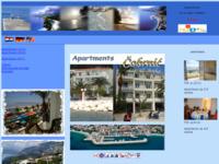 Frontpage screenshot for site: Apartmani Ivo Čobrnić, Tučepi (http://free-st.t-com.hr/Cobrnic-Tucepi/)