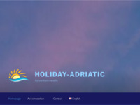 Frontpage screenshot for site: (http://www.holiday-adriatic.com/)