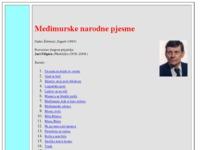 Frontpage screenshot for site: međimurske narodne pjesme (http://www.croatianhistory.net/etf/meddim.html)