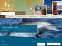 Frontpage screenshot for site: Otok Lošinj (http://www.island-losinj.com/)