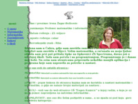 Frontpage screenshot for site: Osobna stranica Irene Žagar-Božičević (http://izagar.pondi.hr/)