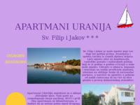 Slika naslovnice sjedišta: Apartmani Uranija, Sv. Filip i Jakov (http://www.inet.hr/~juranija/)