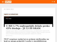 Frontpage screenshot for site: Internet portal - Grad Split (http://split-online.info/)
