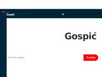 Slika naslovnice sjedišta: Grad Gospić (http://www.gospic.hr)