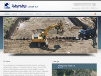 Frontpage screenshot for site: Vodogradnja Osijek d.d. (http://www.vodogradnja-osijek.hr)