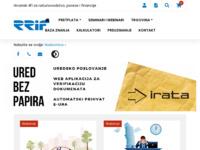 Slika naslovnice sjedišta: RRiF-plus d.o.o. (http://www.rrif.hr/)