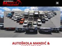 Slika naslovnice sjedišta: Autoškola Mandić (http://www.autoskola-mandic.hr/)