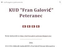 Frontpage screenshot for site: KUD Fran Galović (http://sites.google.com/site/peteraneckudfrangalovic/)