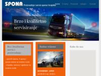 Frontpage screenshot for site: Spona servis (http://www.spona-servis.hr/)