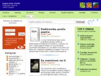 Frontpage screenshot for site: Izvori - sveučilišna knjižara (http://www.izvori.com/)