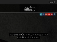 Frontpage screenshot for site: Kozmetički salon Anela (http://www.anela.hr/)