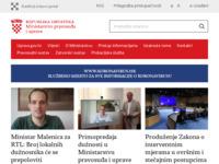 Slika naslovnice sjedišta: Ministarstvo pravosuđa (http://www.pravosudje.hr/)