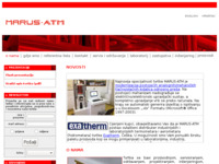 Frontpage screenshot for site: Marus-ATM (http://www.marus-atm.hr/)