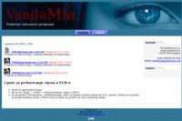 Frontpage screenshot for site: Vanda Mia (http://www.vandamia.com/programi)