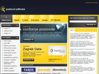 Slika naslovnice sjedišta: Ponuda poslovnog softvera u Hrvatskoj (http://www.poslovnisoftver.com/)