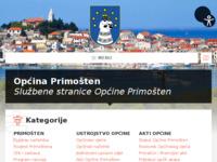 Slika naslovnice sjedišta: Općina Primošten (http://www.primosten.hr)