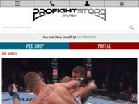 Slika naslovnice sjedišta: Profightstore - portal za borilačke sportove, borilačka oprema, online trgovina borilačke opreme (http://www.profightstore.com/)