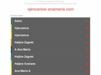 Frontpage screenshot for site: Salon vjenčanica Anamaria Sinj (http://www.vjencanice-anamaria.com)