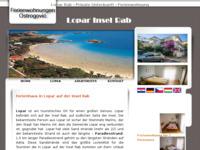 Frontpage screenshot for site: Apartmani Ostrogović-Lopar (http://www.lopar.net/)