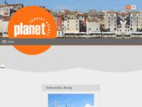 Frontpage screenshot for site: Turistička agencija Planet (http://www.planetrovinj.com)