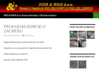 Slika naslovnice sjedišta: Ines & Bimi d.o.o. (http://www.inesbimi.biz.hr)