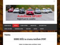 Slika naslovnice sjedišta: Auto škola Sport (http://www.autoskola-sport.hr/)