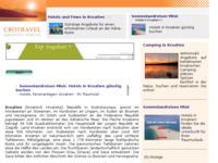 Frontpage screenshot for site: Hrvatska - Informativni prirucnik (http://www.kroatien-links.de/kroatien-info.htm)