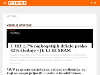 Slika naslovnice sjedišta: Neslužbeni portal - grad Petrinja (http://petrinja-portal.net/)
