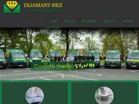 Frontpage screenshot for site: Dijamant-rez d.o.o (http://www.dijamant-rez.hr/)