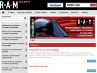 Slika naslovnice sjedišta: Ram d.o.o. (http://www.ram-rijeka.com/)