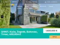 Frontpage screenshot for site: Opereta, agencija za promet nekretninama (http://www.opereta.hr/)