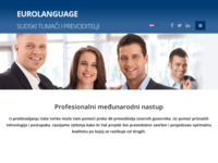 Frontpage screenshot for site: (http://www.eurolanguage.hr)