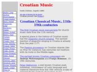 Frontpage screenshot for site: kratka povijest hrvatske glazbe (http://www.croatianhistory.net/etf/et12.html)