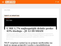 Slika naslovnice sjedišta: Internet portal - Grad Slatina (http://grad-slatina.com/)