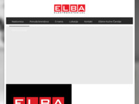 Frontpage screenshot for site: Elba-elektromaterijal (http://www.elba.hr)