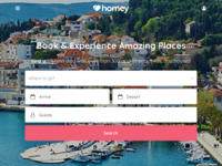 Frontpage screenshot for site: Turizam u Dalmaciji (http://www.dalmacija.net/)