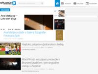 Frontpage screenshot for site: split.com.hr - splitski portal (http://www.split.com.hr/)