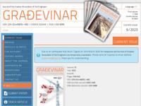 Frontpage screenshot for site: Časopis Građevinar (http://www.casopis-gradjevinar.hr/)