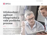 Frontpage screenshot for site: Špica sustavi (http://www.spica.hr/)