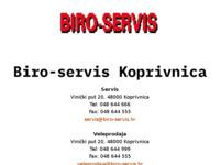 Slika naslovnice sjedišta: Biro-servis (http://www.biro-servis.hr/)