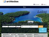 Frontpage screenshot for site: Otok Lošinj i grad Mali Lošinj (http://www.artmedias.hr/)