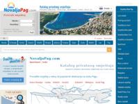 Frontpage screenshot for site: NovaljaPag.com - Turistički vodič kroz Novalju (http://novaljapag.com)