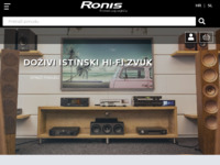 Frontpage screenshot for site: Ronis audio - video tehnika (http://www.ronis.hr)